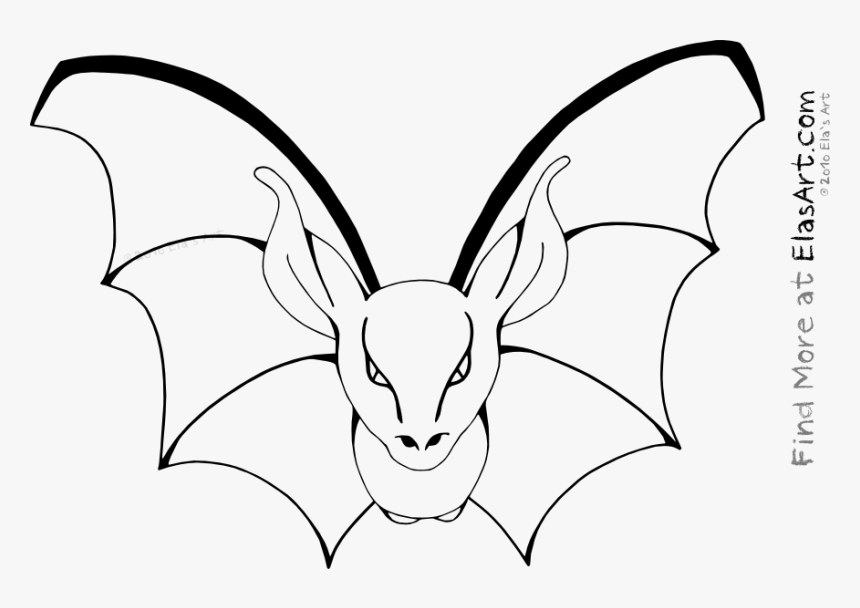 Halloween Bats Coloring Pages Printable Bat Color Page Halloween Hd Png Download Transparent Png Image Pngitem