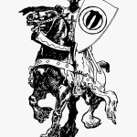 Knight On Wild Horse Knights Horse Line Drawing Hd Png Download Transparent Png Image Pngitem