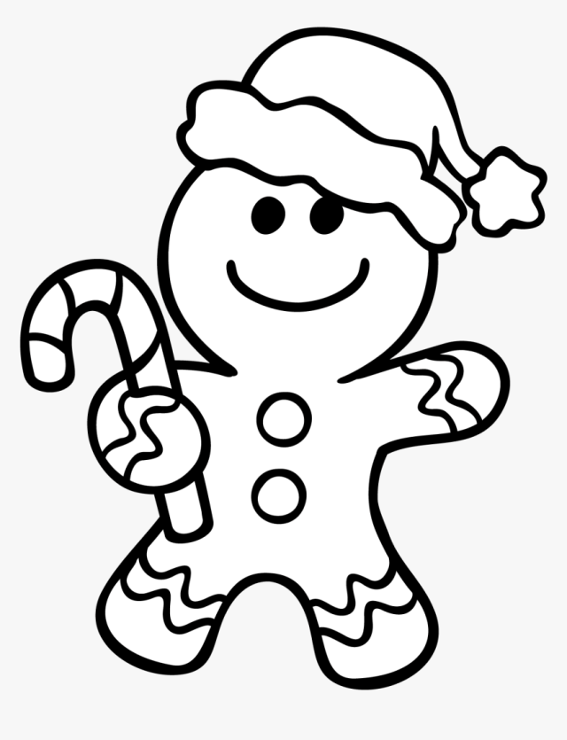 Gingerbread Man Coloring Pages - Christmas Coloring Gingerbread