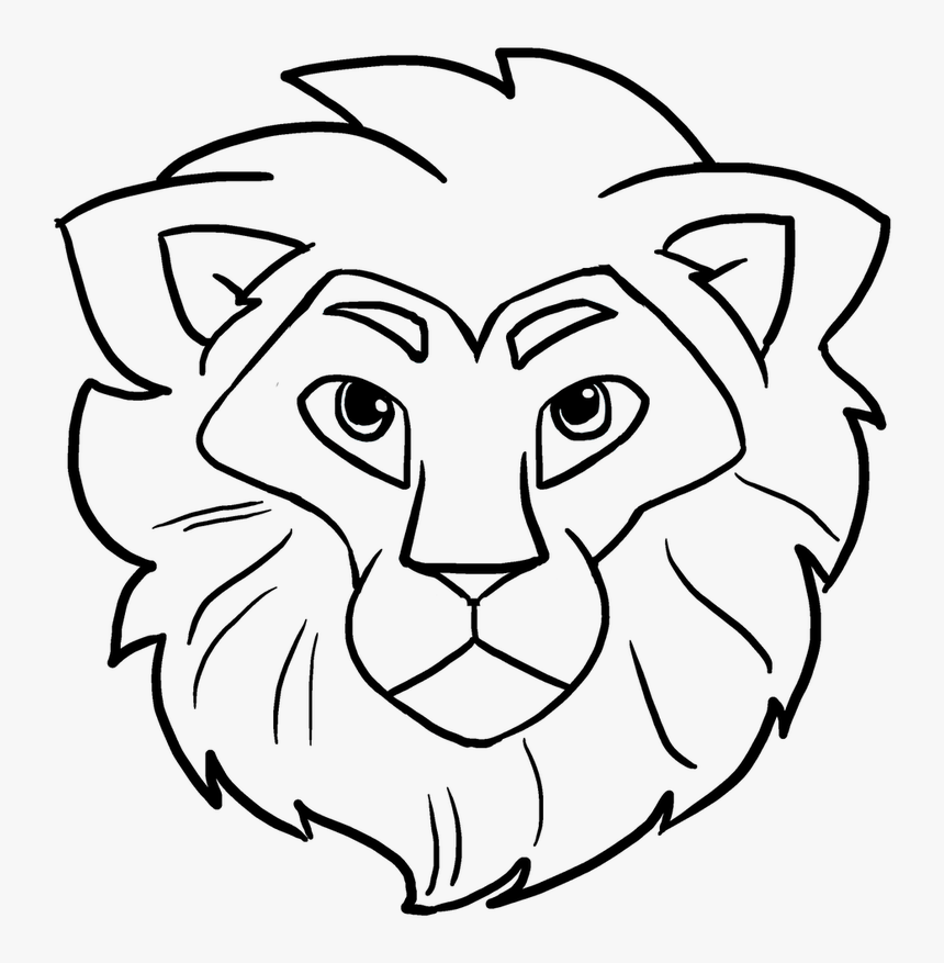 Easy Drawing Guides On Twitter Learn How To Draw A Lion Head Easy Drawing Hd Png Download Transparent Png Image Pngitem