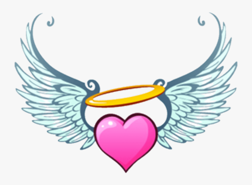 Angel Hearts Wings Heart Heart With Angel Wings Clipart Hd Png Download Transparent Png Image Pngitem