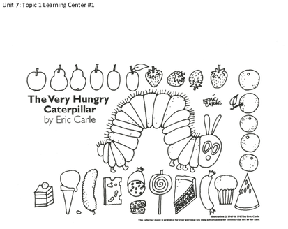 Hungry Caterpillar Coloring Page Healthy Food Png Download Original Size Png Image Pngjoy