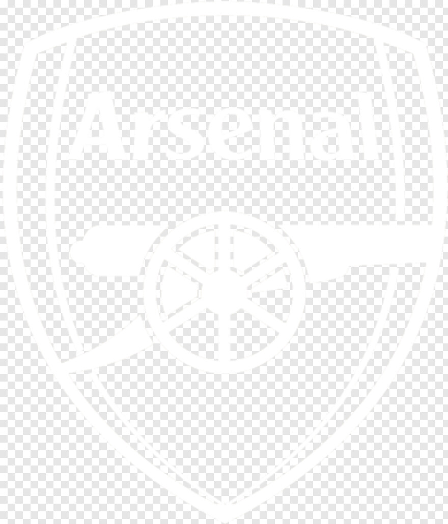 arsenal logo white png transparent png