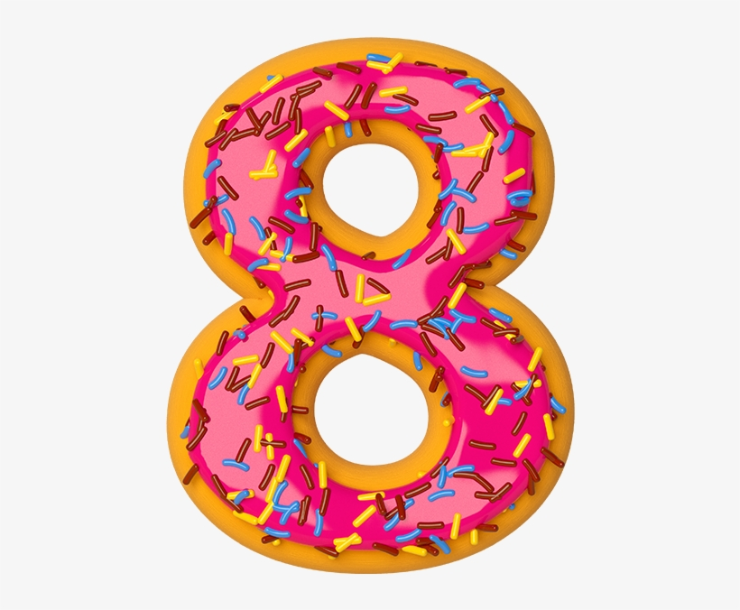 Download Number 8 Transparent Images - Donuts Number 8 PNG Image with No  Background - PNGkey.com