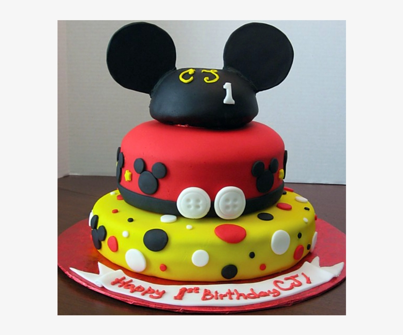 Mickey Mouse 1st Birthday Png Download Cake Free Transparent Png Download Pngkey