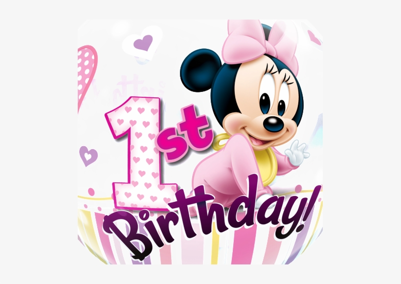 Free Baby Minnie Mouse 1st Birthday Clipart Minnie Mouse 1st Birthday Bubble Balloon 22 Free Transparent Png Download Pngkey
