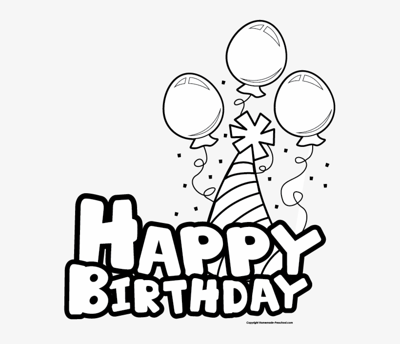 Best Birthday Clip Art Black And White Happy Birthday Cake Clipart Black And White Free Transparent Png Download Pngkey
