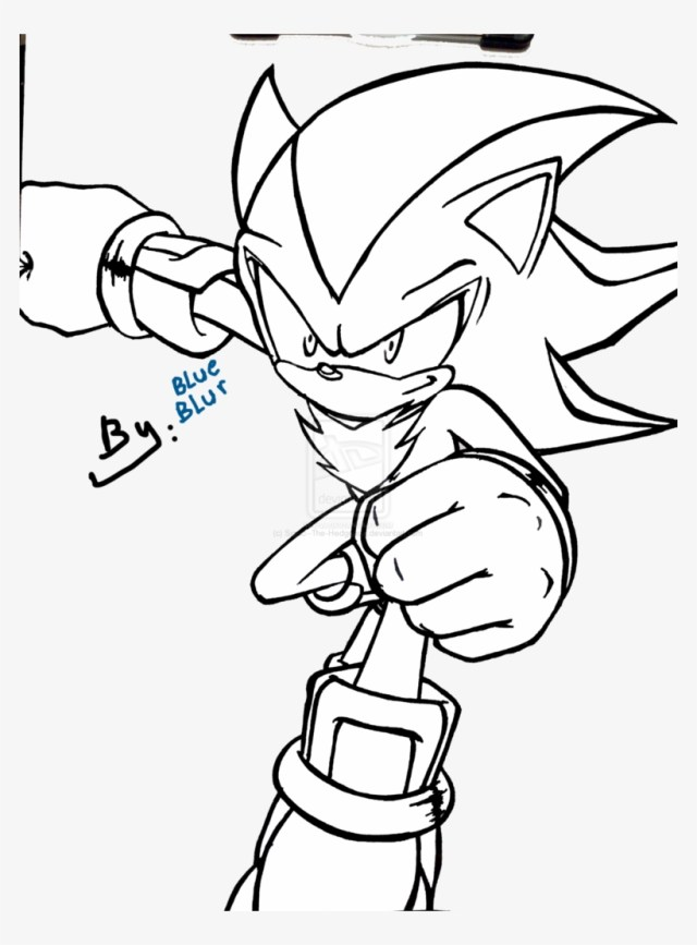 Shadow The Hedgehog Coloring Pages Paint By New - Shadow The
