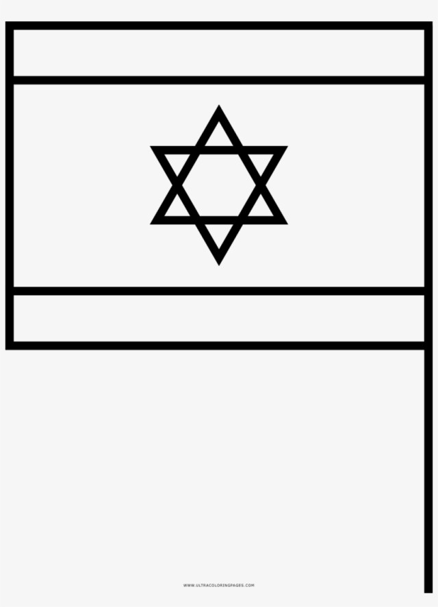 Flag Of Israel Coloring Page - Bandera De Israel Para Colorear