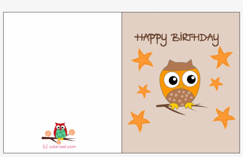 Happy Birthday Printable Free Owl Birthday Cards Free Transparent Png Download Pngkey