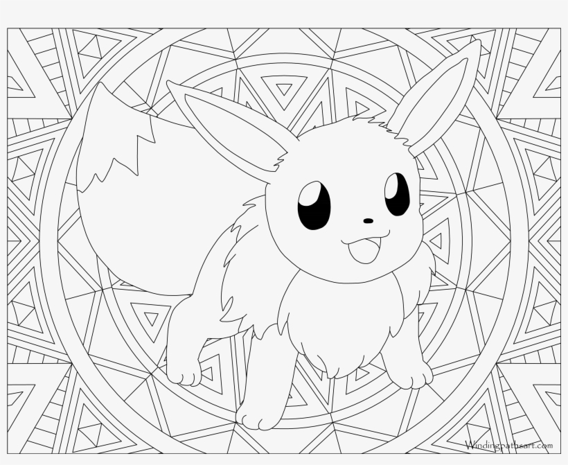Eevee Coloring Page Free Printable Pages In Pokemon Colouring Pages Eevee Evolutions Free Transparent Png Download Pngkey