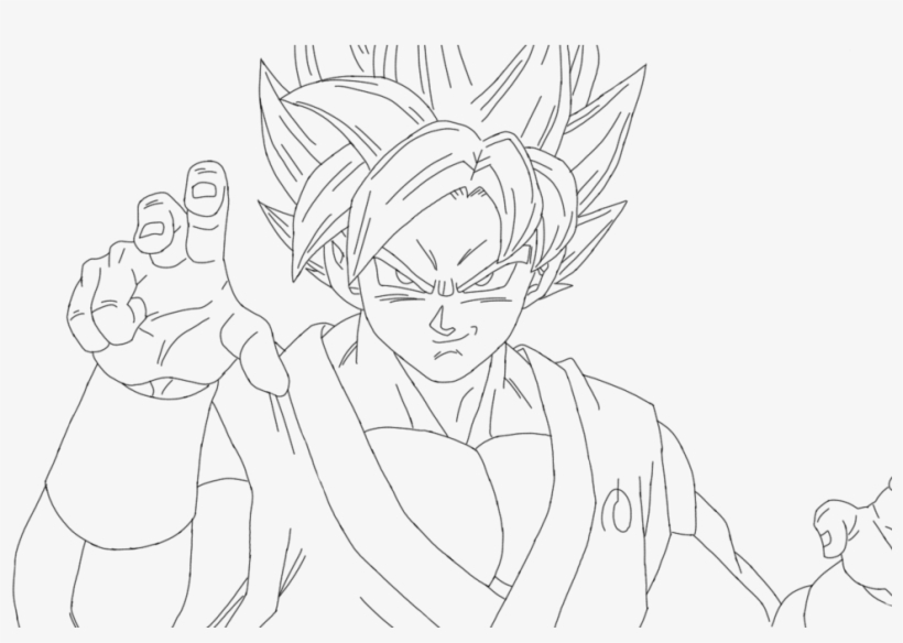 Ssgss Goku Drawings Dragon Ball Super Coloring Pages Goku Free Transparent Png Download Pngkey