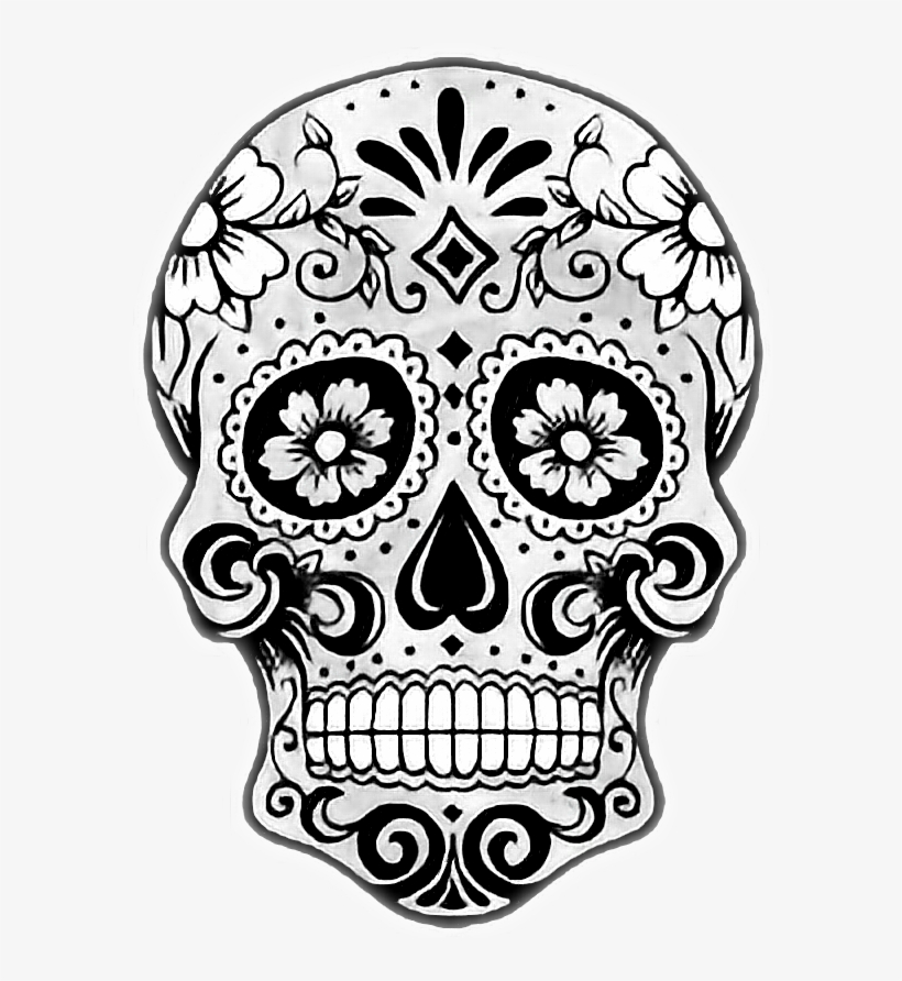 Report Abuse Sugar Skull Drawing Easy Free Transparent Png Download Pngkey