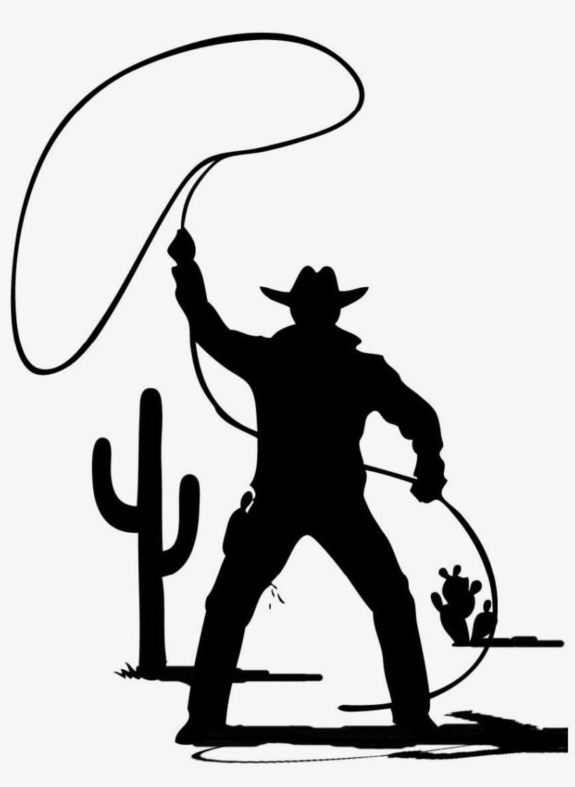 Cowboy Silhouette Png Cowboy Clip Art Black And White