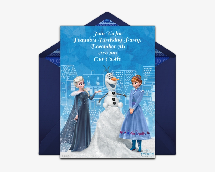 frozen adventure online invitation