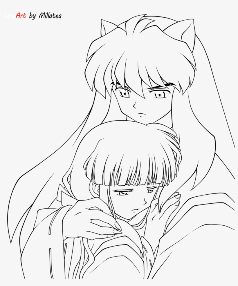 coloring pages coloring pages inuyasha book inuyasha