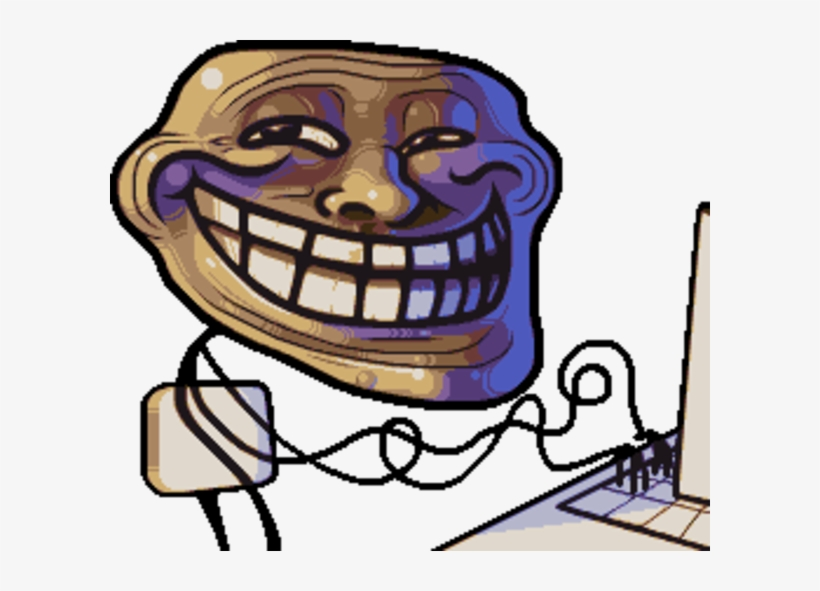Trollface Troll Face Avatar Free Transparent Png Download Pngkey