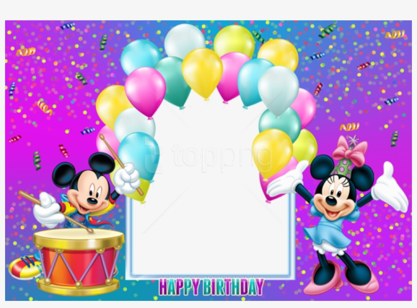 Free Png Happy Birthday Mickey Mouse Transparent Kids Mickey Mouse Birthday Background Free Transparent Png Download Pngkey