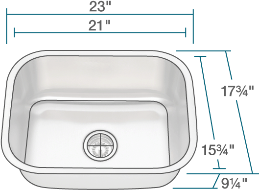 mr direct 2318 single bowl stainless