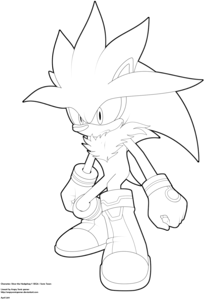 Download 44 Super Sonic Coloring Pages To Endearing Enchanting Silver The Hedgehog Drawing Png Image With No Background Pngkey Com