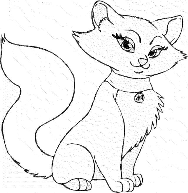 Download Free Printable Cat Coloring Pages - Cat Page Coloring
