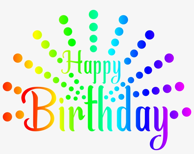 Colorful Clipart Happy Birthday Transparent Background Happy Birthday Text Png 8000x5973 Png Download Pngkit
