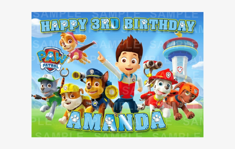 paw patrol birthday backgrounds