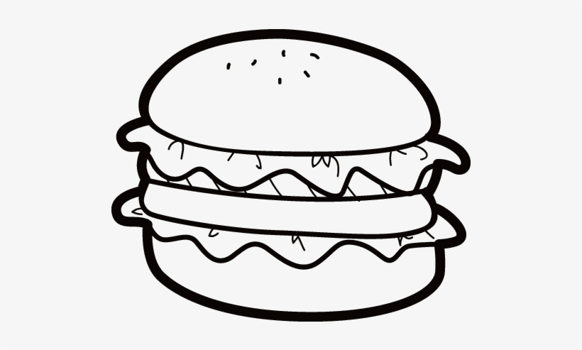Jpg Freeuse Download Frappuccino Drawing Junk Food Hamburger Coloring Page 600x470 Png Download Pngkit