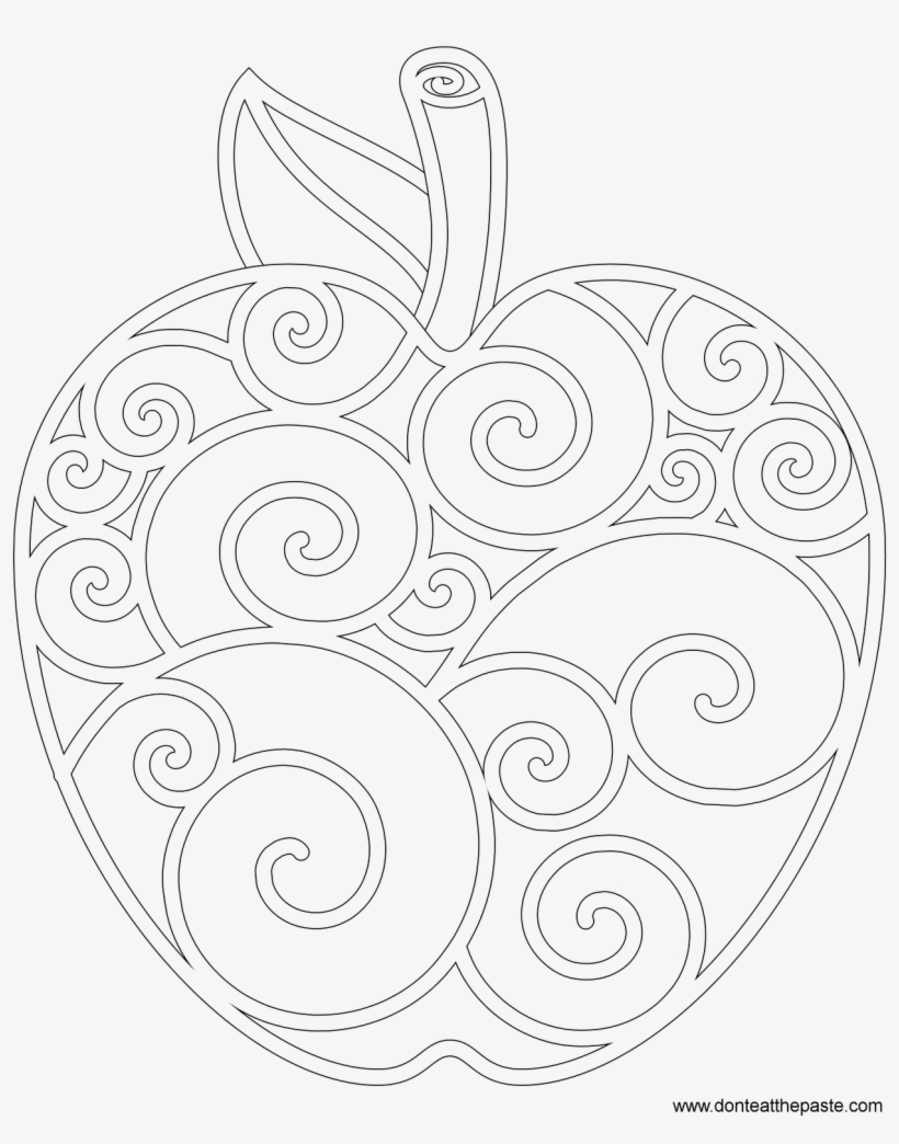Apple Coloring Pages The Sun Flower Apples Page Line Art 1280x1600 Png Download Pngkit