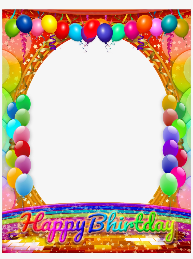 Happy Birthday Frame Birthday Frames Birthday Wishes Red Blue Green Yellow Border 465x600
