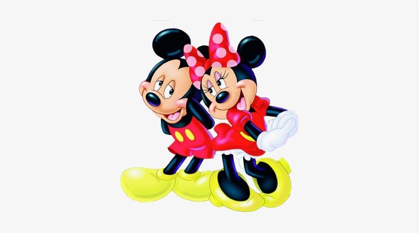 Mickey Et Mini Dessin De Mickey Et Minnie En Couleur 350x377 Png Download Pngkit