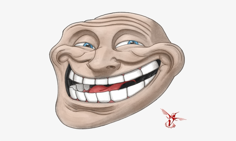 Troll Face Png Happy Forever Alone Face Png Image With