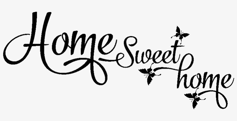 sticker home sweet home et papillons