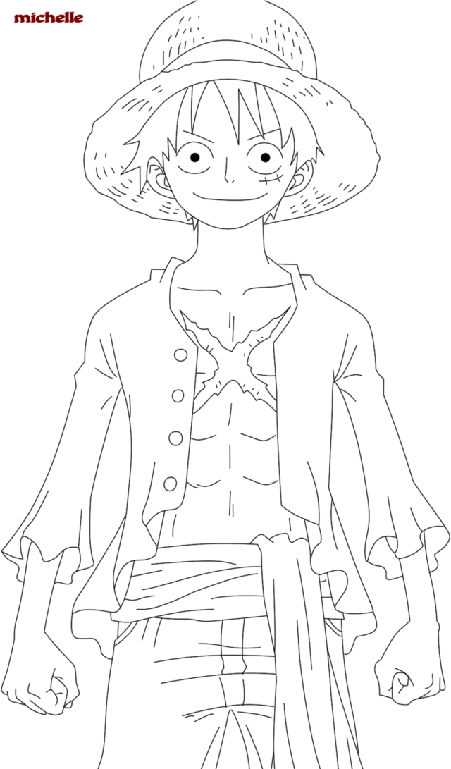 Download Modest One Piece Coloring Pages Monkey D Luffy Pinterest