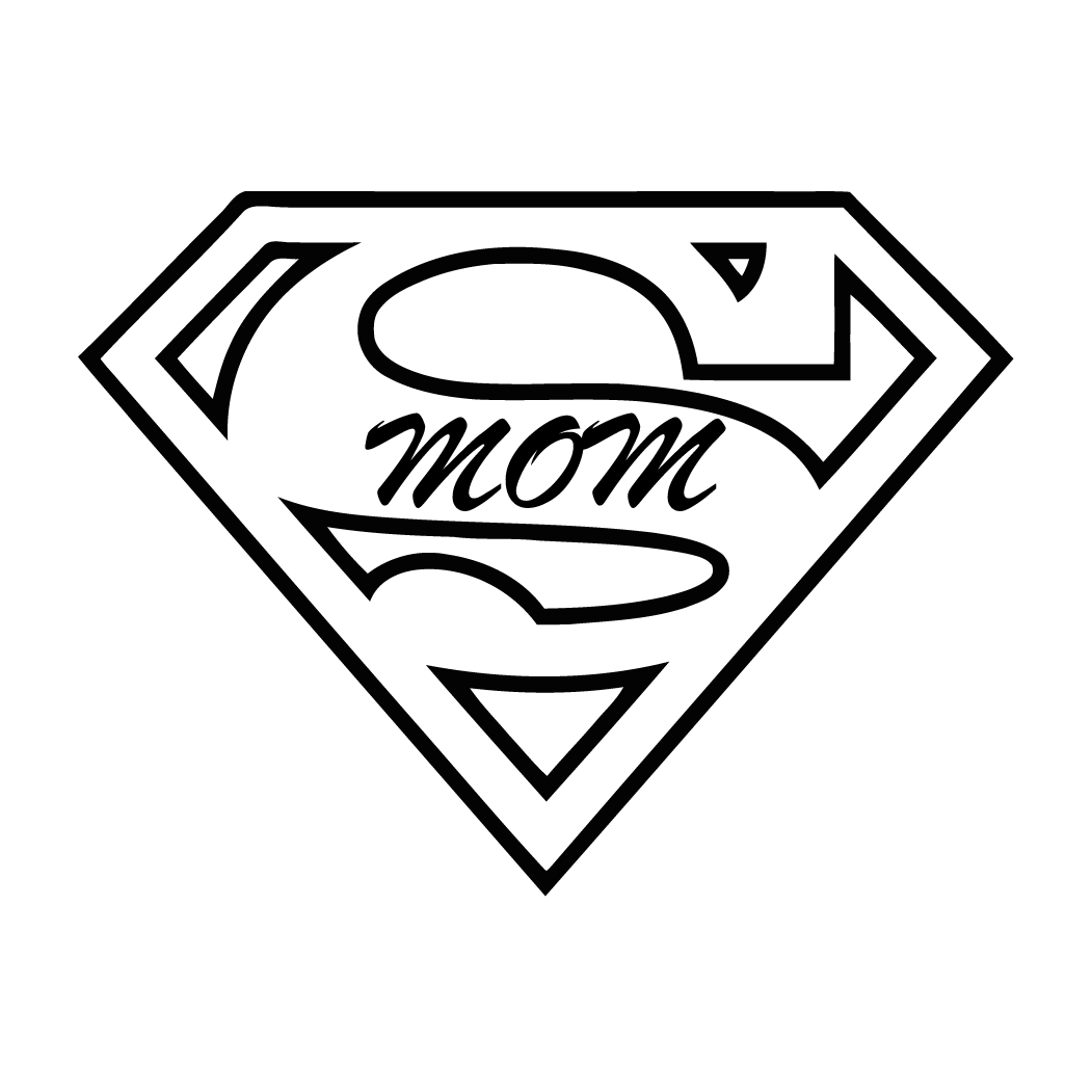 Download Super Mom Decal Coloring Page Superman Logo Printable Full Size Png Image Pngkit