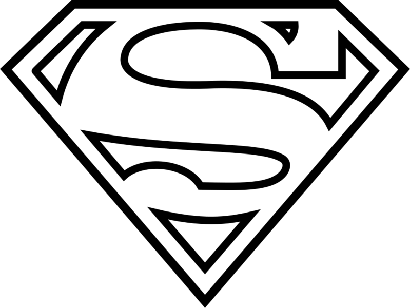 Download Black And White Download Autism Svg Superman Printable Superman Logo Coloring Pages Full Size Png Image Pngkit