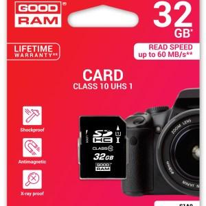 Carte mémoire SDHC 32GO Goodram S1A0 classe 10