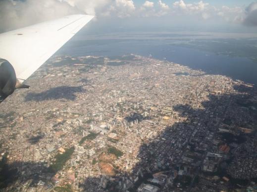 Flying over Manaus, Brazil