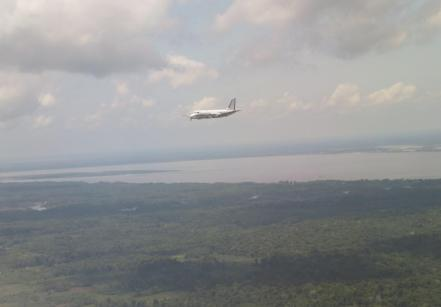 GOAmazon research flight over the Amazon