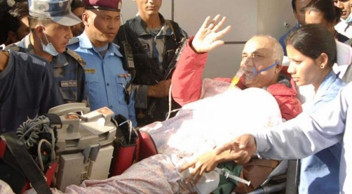 प्रधानमन्त्री ओली फेरी अस्पतालमा