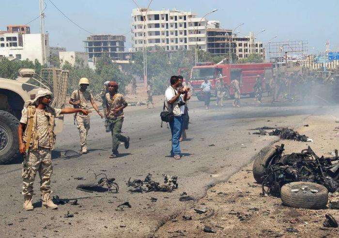 यमनमा सरकारी फौजको कारबाहीमा परेर ६१ लडाकू मारिए