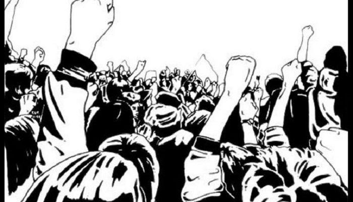 बलात्कारका दोषी प्रहरीद्वयलाई कारवाहीको माग राख्दै स्थानीयवासीद्व्रारा प्रदर्शन