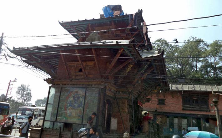 भूकम्पको चार वर्षपछि जयवागेश्वरी पुनःनिर्माण शुरु
