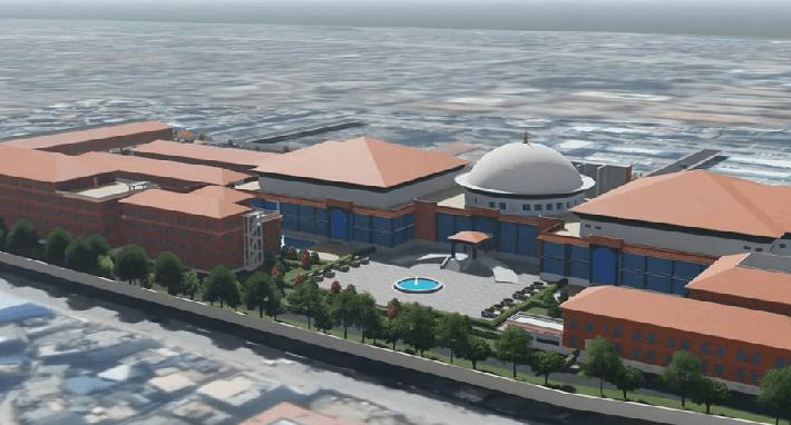 अब सिंहदरबारभित्रै परम्परागत शैलीको आधुनिक संसद् भवन