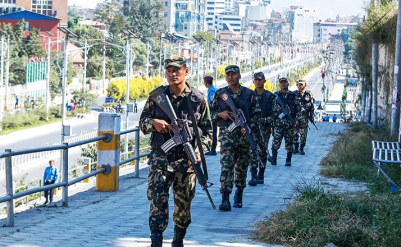 उपनिर्वाचन २०७६ : नेपाली सेनाद्वारा गस्ती