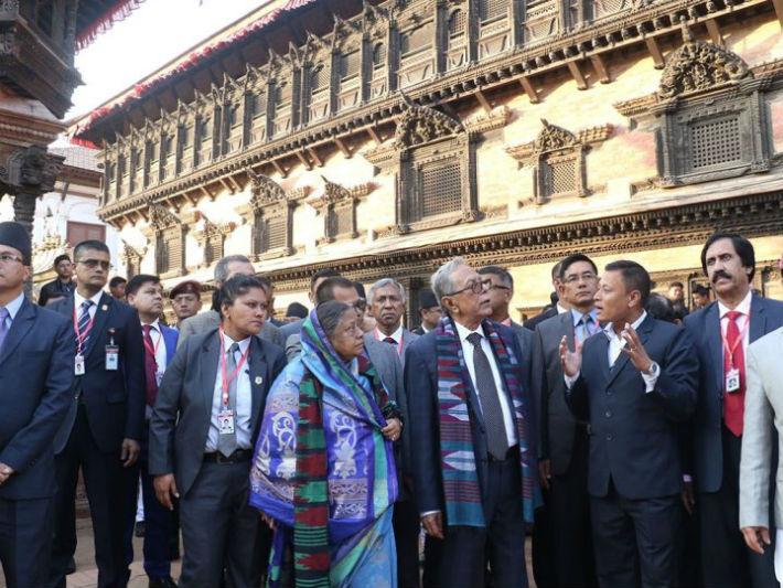 बङ्गलादेशका राष्ट्रपति हमिद भक्तपुरमा