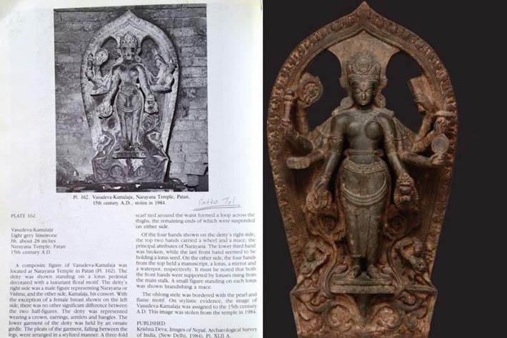 काठमाडौंको मन्दिरबाट चोरी भएको मूर्ती अमेरिकी संग्रहालयमा
