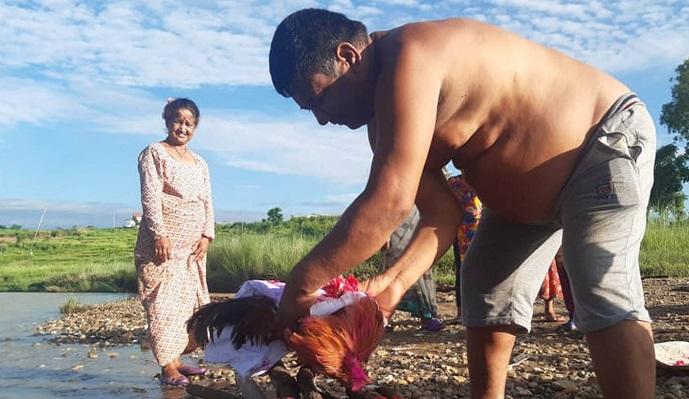 बीस वर्ष पालेको भाले मरेपछि हिन्दू परम्पराअनुसार नै दाहसंस्कार गरियो
