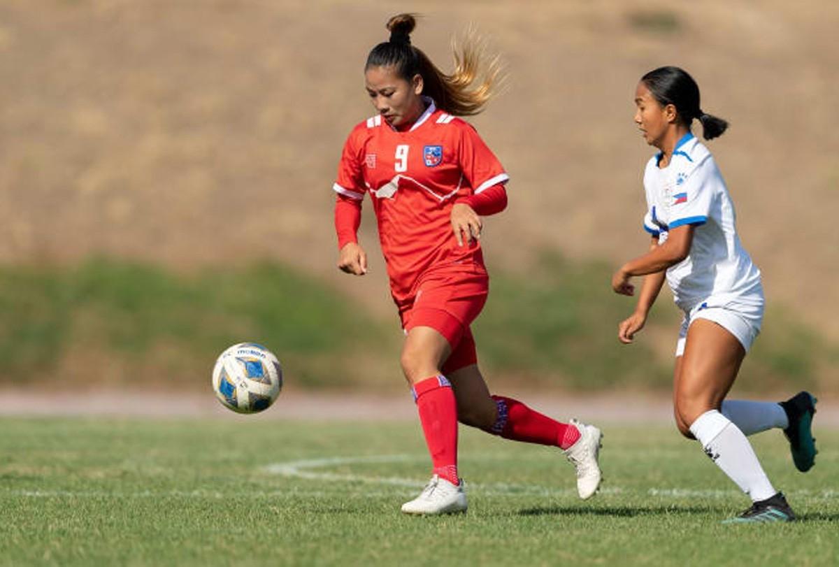 एसियन कप छनोटमा नेपाली महिला फुटबल टोली समूह चरणबाटै बाहिरियो