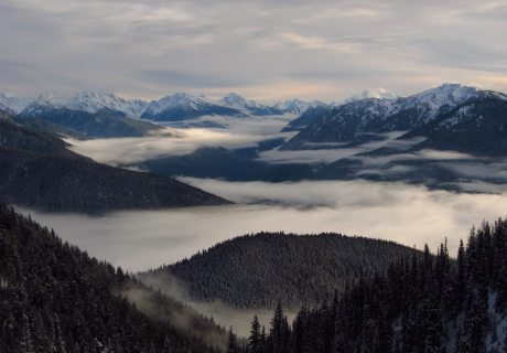 Views of the Olympic Range in Winter